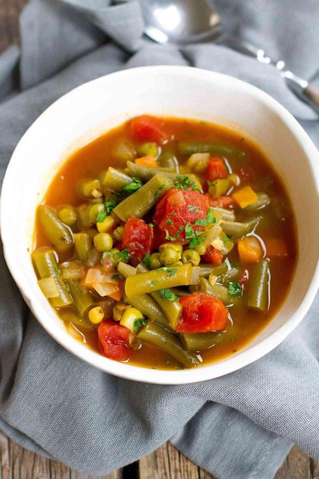 """<p>This hearty vegetable soup has a little bit of everything in it.</p> <p><strong>Get the recipe:</strong> <a href=""""https://www.cookincanuck.com/instant-pot-vegetable-soup/"""" target=""""_blank"""" class=""""ga-track"""" data-ga-category=""""Related"""" data-ga-label=""""https://www.cookincanuck.com/instant-pot-vegetable-soup/"""" data-ga-action=""""In-Line Links"""">vegetable soup</a></p>"""