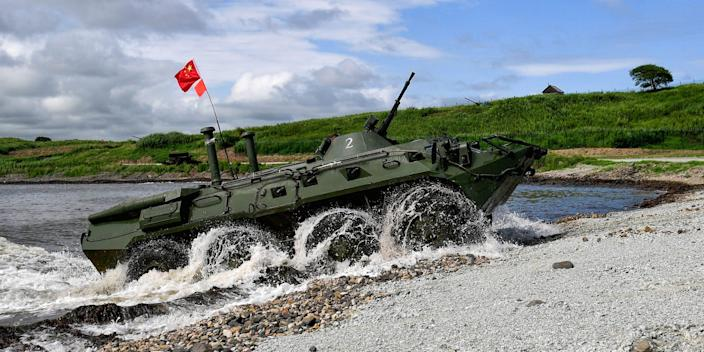 China army armored personnel carrier seaborne amphibious assault