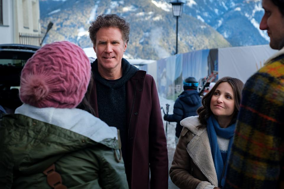 Will Ferrell and Julia Louis-Dreyfus in a still from <i>Downhill</i>. (Twentieth Century Studios)