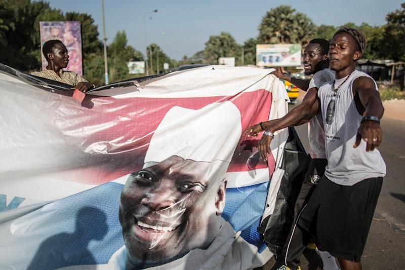 Gambia has been plunged into political turmoil since President Yahya Jammeh disputed opposition leader Adama Barrow's December poll victory (AFP Photo/MARCO LONGARI)
