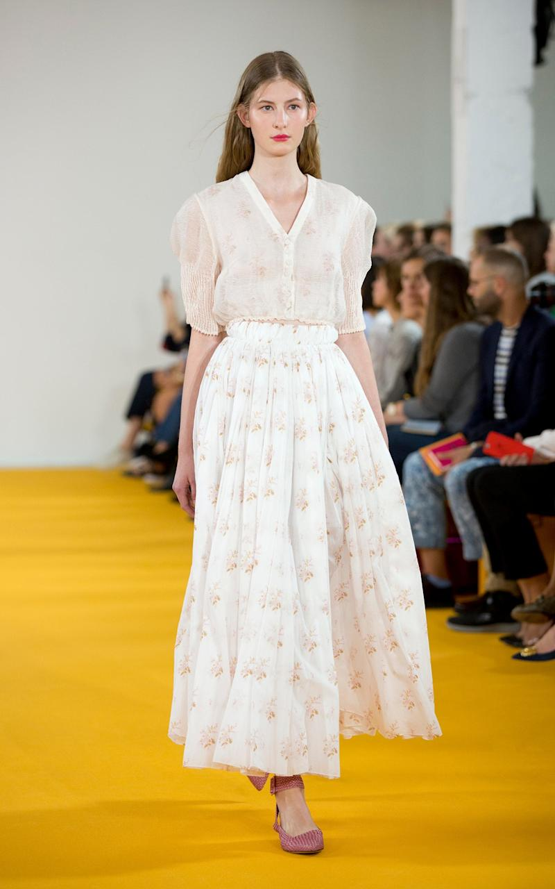 A look from Emilia Wickstead's SS17 collection