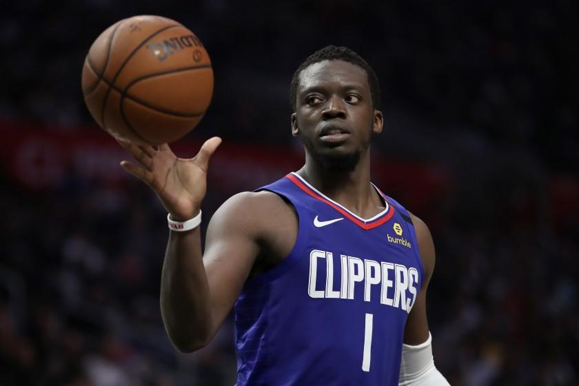 LOS ANGELES, CALIFORNIA - FEBRUARY 22: Reggie Jackson #1 of the Los Angeles Clippers handles the ball during the fourth quarter in a game against the Sacramento Kings at Staples Center on February 22, 2020 in Los Angeles, California. The Kings won 112-103. NOTE TO USER: User expressly acknowledges and agrees that, by downloading and or using this Photograph, user is consenting to the terms and conditions of the Getty Images License Agreement. (Photo by Katelyn Mulcahy/Getty Images)