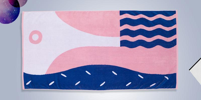 "A bold beach towel means none of your friends can take yours home ""by accident"" ever again. SHOP NOW: Beach Towel by Liv & Dom for Slowdown Studio, $60 $80, slowdownstudio.com"