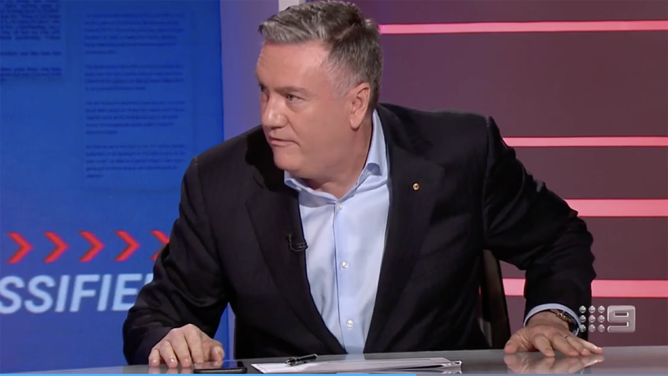 Eddie McGuire, pictured here being grilled on Footy Classified.