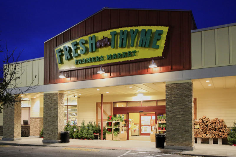 A Fresh Thyme store is seen in Omaha, Neb., Wednesday, Nov. 20, 2019. Nebraska and federal health officials say a hepatitis A outbreak that includes Nebraska, Indiana and Wisconsin has been traced to blackberries sold in Fresh Thyme grocery stores. The Nebraska Department of Health and Human Services says in a news release Wednesday that the outbreak began several week ago in Nebraska. The department says it, the U.S. Food and Drug Administration and the Centers for Disease Control and Prevention are investigating and have confirmed 11 cases. 2019. (AP Photo/Nati Harnik)