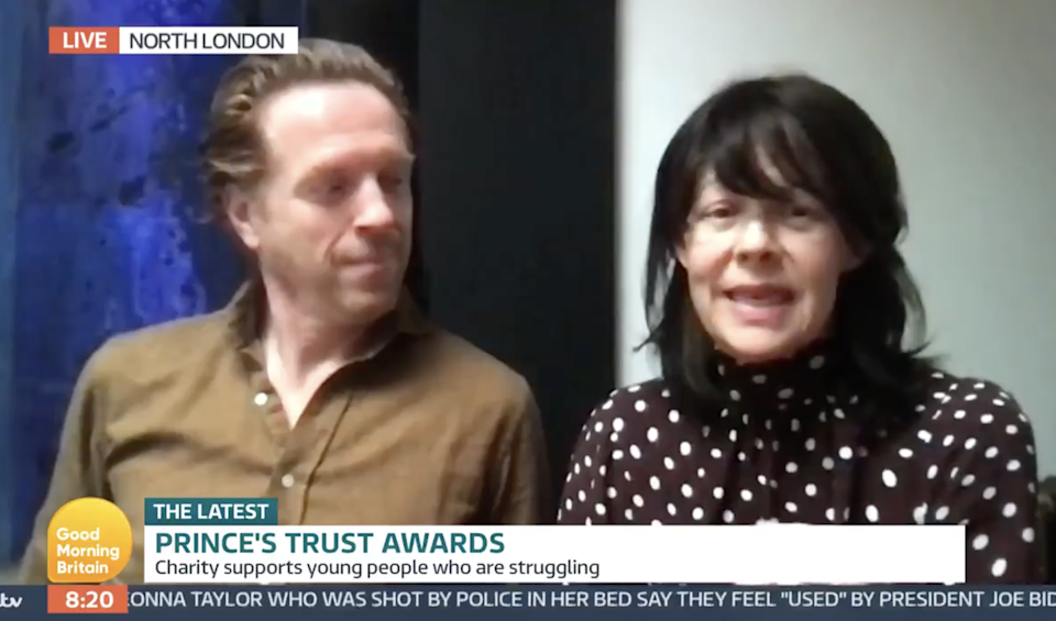 <p>Helen McCrory championed charity with Damian Lewis in one of her last public appearances, six weeks before her death</p> (GMB / iTV)