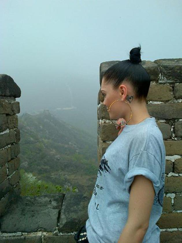 """Celebrity photos: Not content with being a number one popstar, fashion icon and judge on The Voice, Jessie J decided to make a trip to the Great Wall of China. She tweeted this image, but explained to followers: """"I didn't walk the whole great wall of china its 5200 miles long. Would take me a year 6 months if I jogged. I walked enough to see how beautiful it was. :)"""" [sic]"""