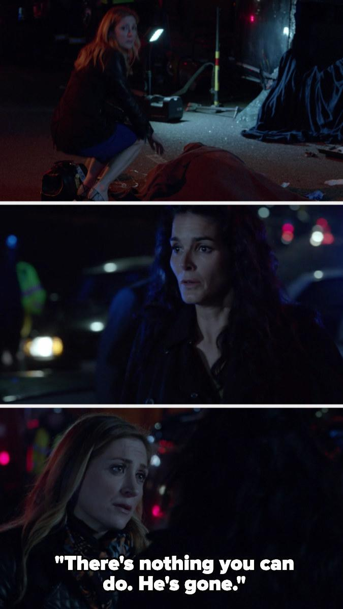 """<div><p>""""The episode of <i>Rizzoli & Isles</i> after Detective Frost dies. It has a moment where each character finally broke down and grieved. I lost it each time a character did. ... It was even more heartbreaking knowing that the actor, Lee Thompson Young, had died in real life.""""</p><p>—<a href=""""https://www.buzzfeed.com/jennylamb"""" rel=""""nofollow noopener"""" target=""""_blank"""" data-ylk=""""slk:jennylamb"""" class=""""link rapid-noclick-resp"""">jennylamb</a></p></div><span> TNT</span>"""
