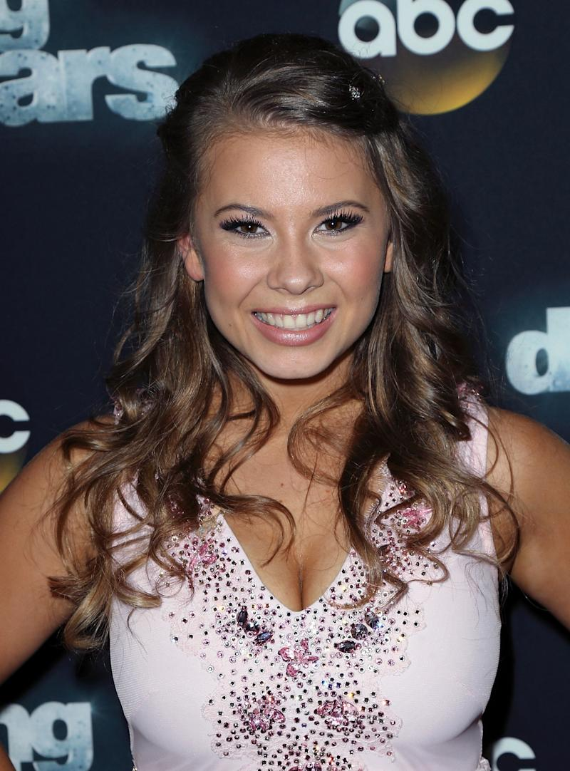 Actress/ wildlife conservationist Bindi Irwin attends 'Dancing with the Stars' Season 21 at CBS Televison City on September 22, 2015 in Los Angeles, California.