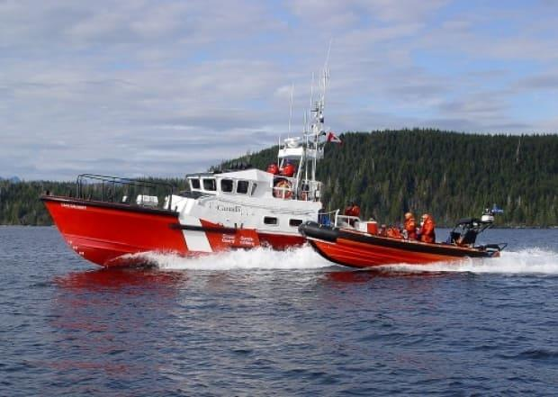 A permanent Canadian Coast Guard station that opened May 25 in Victoria, B.C. will be staffed 24 hours a day with marine first responders who have access to the 14.7-metre Canadian Coast Guard lifeboat the CCGS Cape Calvert (shown in this government photograph) and a rigid hull inflatable boat.  (dfo-mpo.gc.ca - image credit)