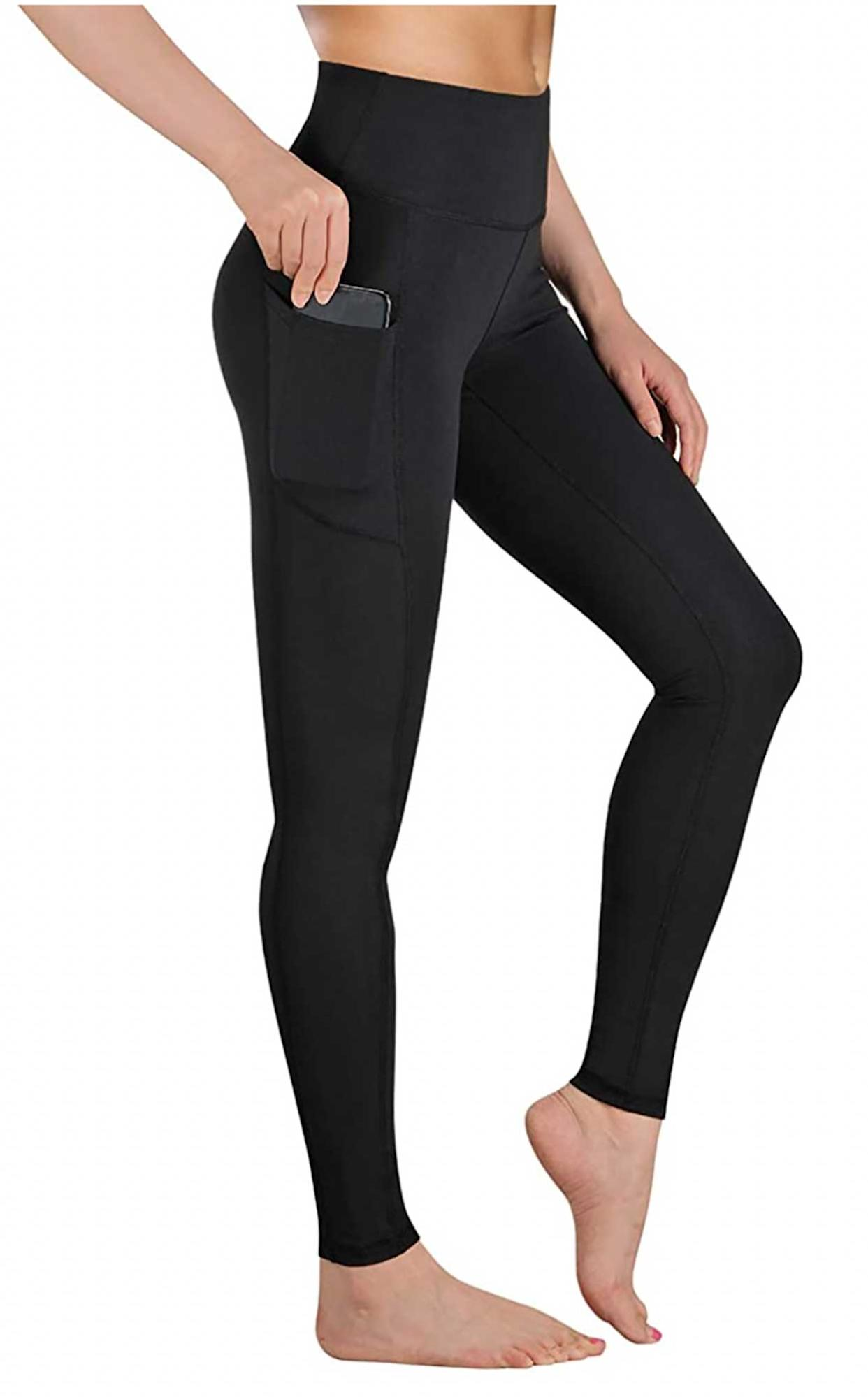High Waist Workout Leggings with Pockets and Tummy Control