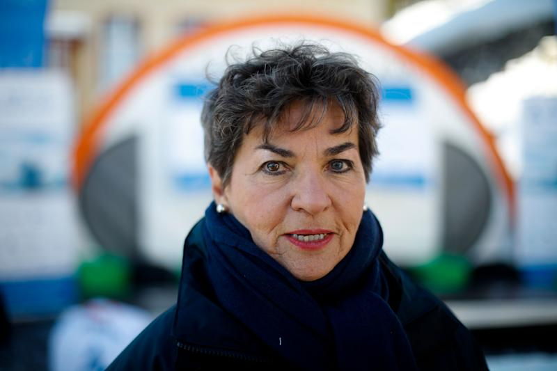 Christiana Figueres at the World Economic Forum in Davos, Switzerland, Jan. 20, 2020.  (Photo: AP Photo/Markus Schreiber)