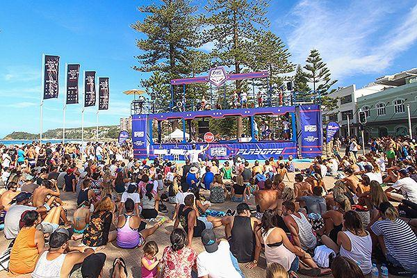 The crowd and the F45 Playoff rig. Pic: David Rouse - The Photography Business