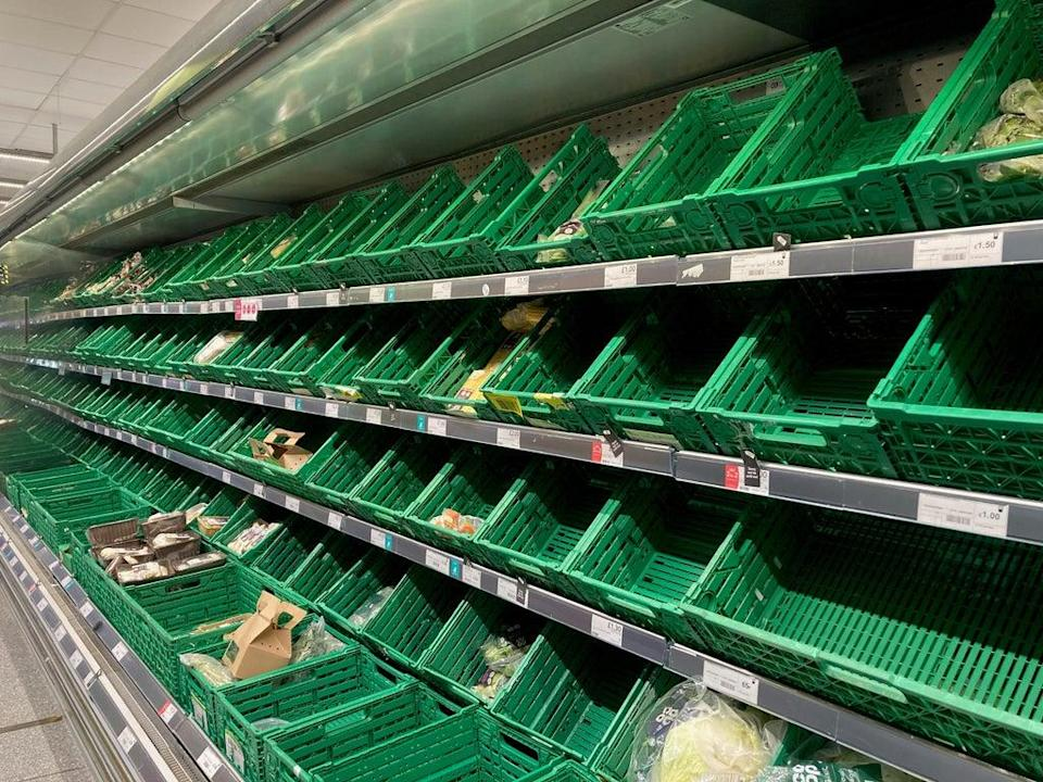 Empty supermarket shelves (Kirsty O'Connor/PA) (PA Wire)