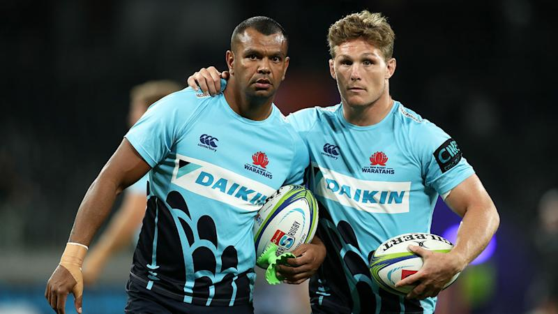 Pictured here, two of Australia's most high-profile Super Rugby stars Kurtley Beale and Michael Hooper.