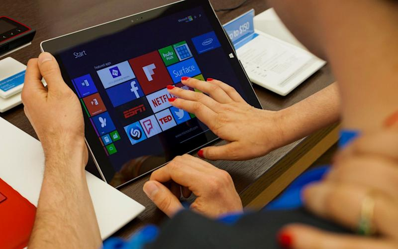 Revenue from sales of Microsoft Surface devices like tablets, laptops and headphones have increased by 21pc - Bloomberg News