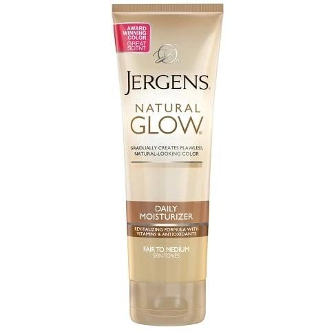 "<p>I have even less time to get ready now than when I was in college, which is why I've never let <a href=""https://www.popsugar.com/buy/Jergens-Natural-Glow-Revitalizing-Lotion-477702?p_name=Jergens%20Natural%20Glow%20Revitalizing%20Lotion&retailer=target.com&pid=477702&price=9&evar1=bella%3Auk&evar9=46478208&evar98=https%3A%2F%2Fwww.popsugar.com%2Fbeauty%2Fphoto-gallery%2F46478208%2Fimage%2F46478217%2FJergens-Natural-Glow-Revitalizing-Lotion&list1=beauty%20products%2Cbeauty%20shopping%2Cdrugstore%20beauty&prop13=api&pdata=1"" rel=""nofollow"" data-shoppable-link=""1"" target=""_blank"" class=""ga-track"" data-ga-category=""Related"" data-ga-label=""https://www.target.com/p/jergens-natural-glow-revitalizing-lotion-7-5-oz/-/A-13667310?preselect=11187070#lnk=sametab"" data-ga-action=""In-Line Links"">Jergens Natural Glow Revitalizing Lotion</a> ($9) leave my side. It keeps my skin from getting dry and flaky while gradually giving me a natural-looking tan.</p>"
