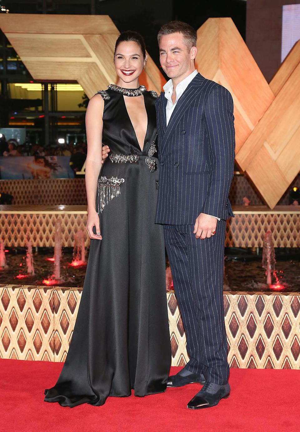 <p>With positive reviews starting to hit, stars Gadot and Pine were all smiles at the the Mexico City premiere on May 27, 2017. (Photo: Victor Chavez/WireImage) </p>