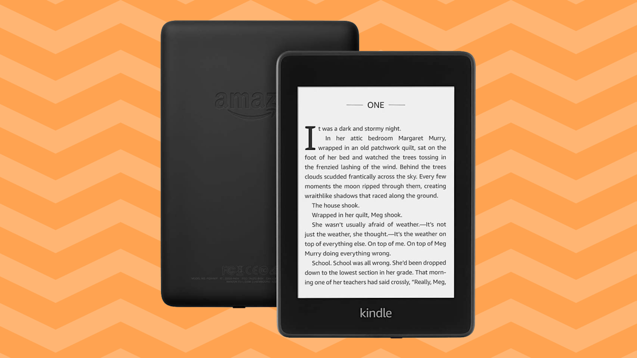 Like reading on paper, without the bulk. Save $45 on the Kindle Paperwhite e-reader right now. (Photo: Amazon)