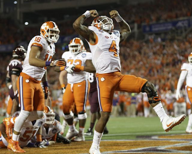 Clemson defeated Virginia Tech to claim the ACC title and a spot in the College Football Playoff. (AP)