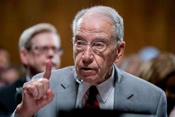 PHOTO: Senate Judiciary Committee Chairman Chuck Grassley, R-Iowa, speaks during a Senate Judiciary Committee meeting on Sept. 13, 2018, in Washington. (Andrew Harnik/AP)