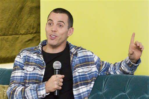 Steve-O duct tapes himself to billboard in Hollywood in publicity stunt
