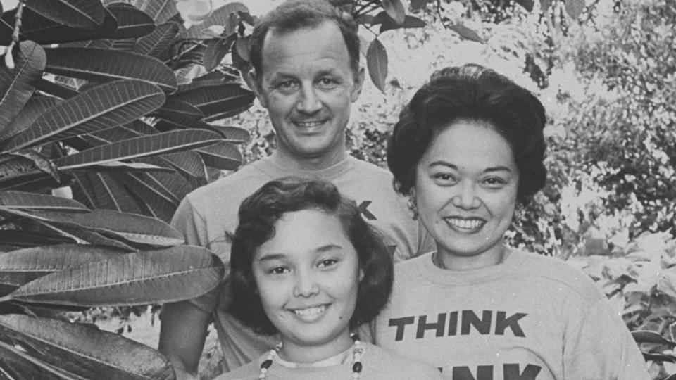 Congresswoman Patsy Mink with her husband John and daughter Gwendolyn (Photo: Getty)