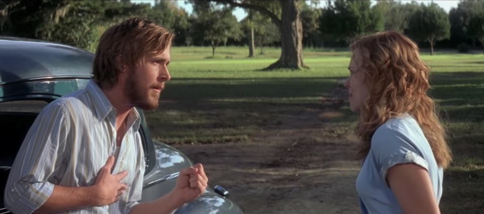 <p>When convincing his longtime love to listen to her heart, instead of her head, Noah begs Allie to tell him what she wants. The classic scene has since been heralded as one of the most romantic moments to date.</p>