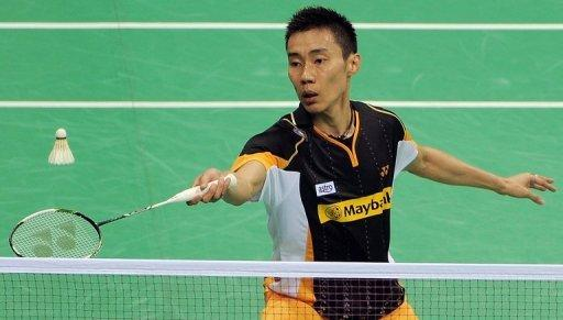 Malaysia's Lee Chong Wei during his men's singles final match at the India Open in New Delhi in April. Injury-hit top seed Lee believes he has given himself a chance of winning his race against time -- and claiming an improbable men's badminton Olympic gold medal