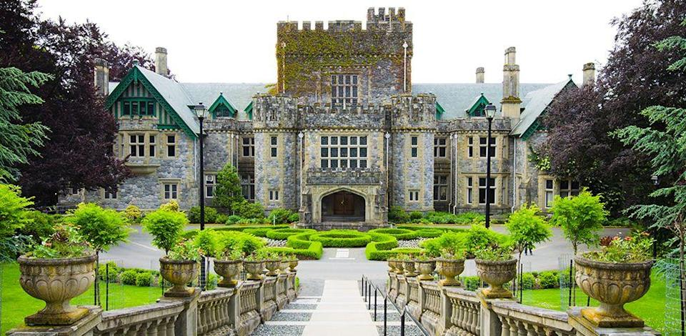 <p>Royal Roads University is more than just a pretty castle, but the Hatley Park National Historic Site <em>is</em> pretty incredible. The rest of campus does not disappoint, with 642 acres of vibrant greenery and spectacular views of the Strait of Juan de Fuca and the exotic Japanese Garden. </p>