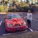 """<p>""""Couldn't afford to get my wife a Lexus for Christmas so I got one of their bows instead and put it on her car."""" [Photo: Reddit/JeremyMcLellan] </p>"""