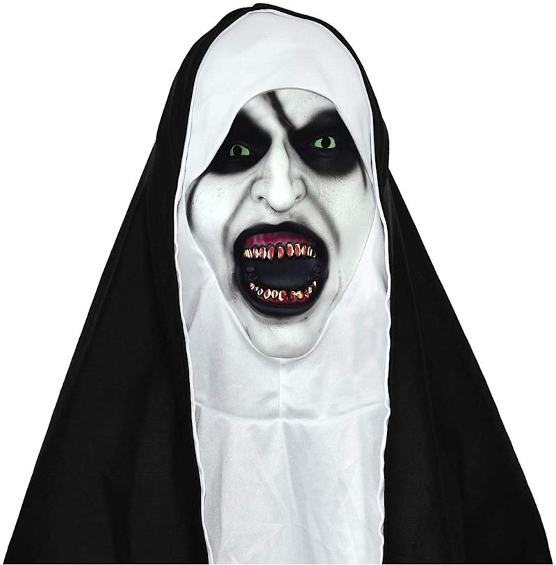Scary Movie The Nun Masks Deluxe Halloween Cosplay Costume Props for Adults. Image via Amazon.