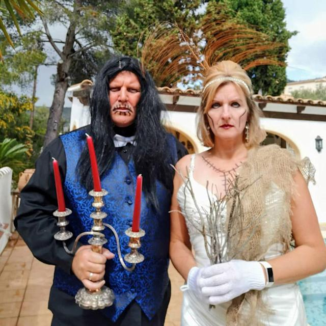 Jo and Pete's 'zombie wedding' themed costumes (PA Real Life/Collect)