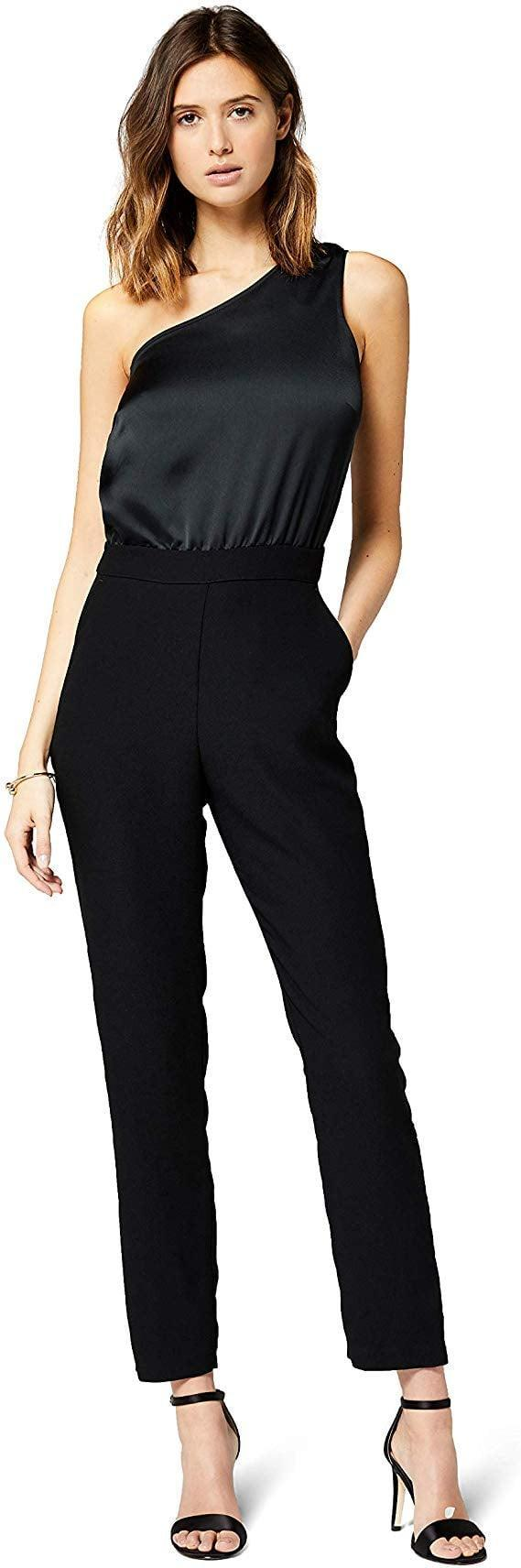 """<p>This versatile <a href=""""https://www.popsugar.com/buy/Truth-amp-Fable-Evening-One-Shoulder-Jumpsuit-523527?p_name=Truth%20%26amp%3B%20Fable%20Evening%20One-Shoulder%20Jumpsuit&retailer=amazon.com&pid=523527&price=57&evar1=fab%3Aus&evar9=46980893&evar98=https%3A%2F%2Fwww.popsugar.com%2Ffashion%2Fphoto-gallery%2F46980893%2Fimage%2F46980980%2FTruth-Fable-Evening-One-Shoulder-Jumpsuit&list1=shopping%2Camazon%2Choliday%2Cnew%20years%20eve%2Choliday%20fashion%2Cfashion%20shopping&prop13=mobile&pdata=1"""" rel=""""nofollow noopener"""" class=""""link rapid-noclick-resp"""" target=""""_blank"""" data-ylk=""""slk:Truth & Fable Evening One-Shoulder Jumpsuit"""">Truth & Fable Evening One-Shoulder Jumpsuit</a> ($57) can be worn over and over again.</p>"""