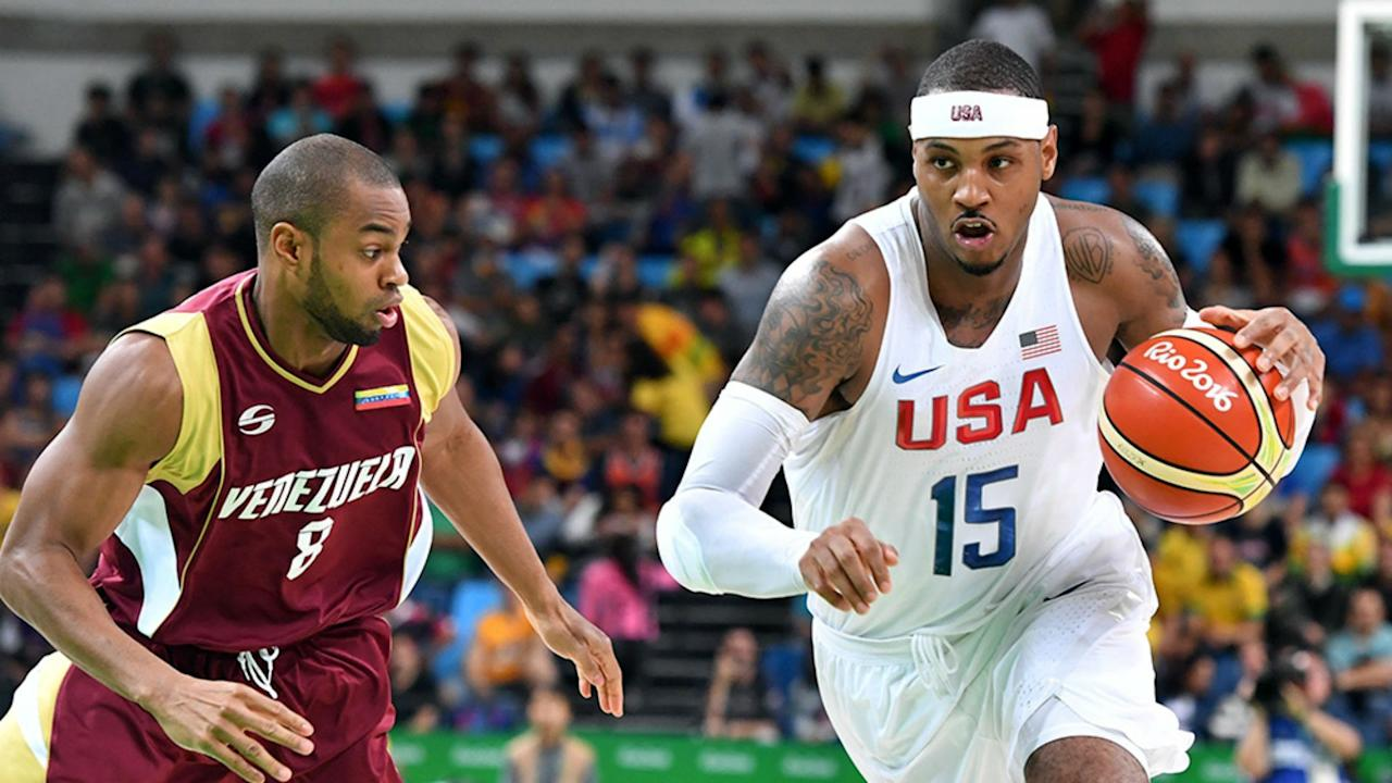 The Rockets want Carmelo Anthony to bring his international game stateside.