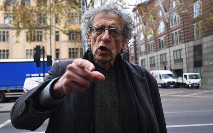 Piers Corbyn, brother of former Labour leader Jeremy Corbyn, arriving at Westminster Magistrates' Court, London, where he is facing trial for allegedly breaking coronavirus restriction - Victoria Jones/PA Wire