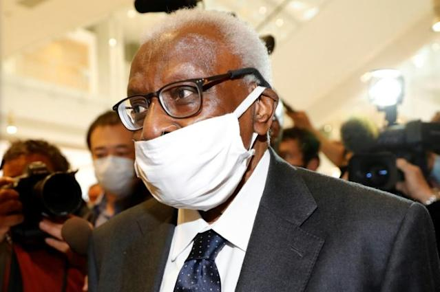 Lamine Diack again told his corruption trial that he had no idea what his son was up to (AFP Photo/Thomas SAMSON)