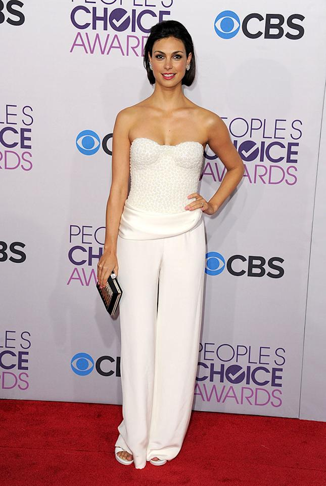 Morena Baccarin attends the 2013 People's Choice Awards at Nokia Theatre L.A. Live on January 9, 2013 in Los Angeles, California.