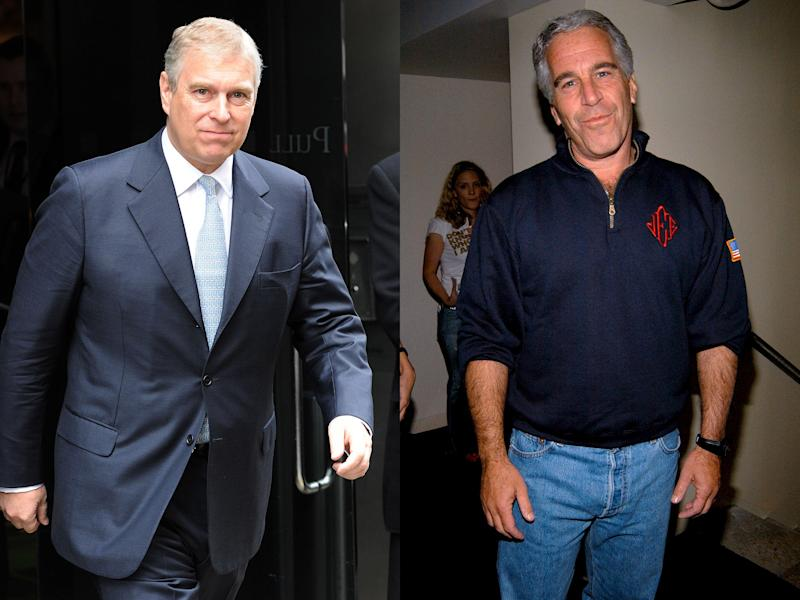 Prince Andrew and Jeffrey Epstein: Getty Images