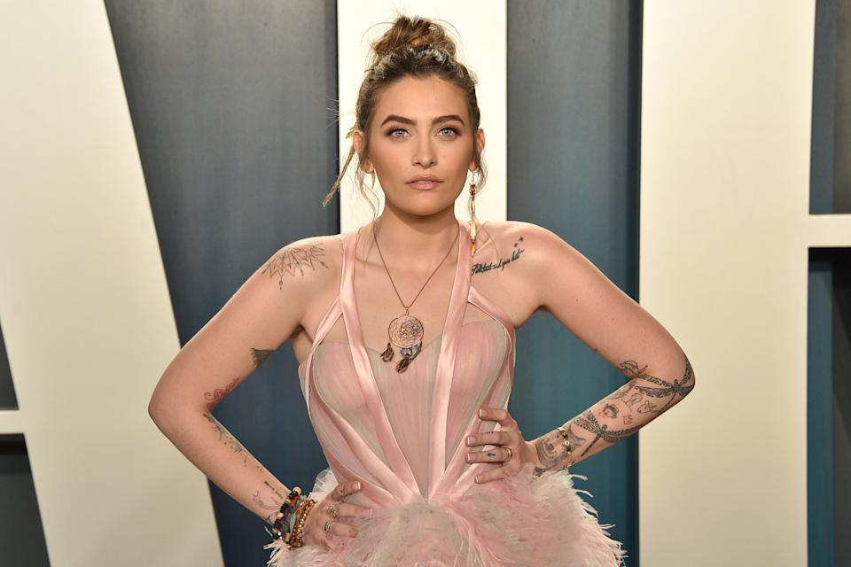 Paris Jackson attends the 2020 Vanity Fair Oscar Party on February 09, 2020. (Photo by David Crotty/Patrick McMullan via Getty Images)