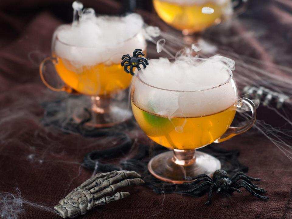 """<p>Fetch the dry ice and grab the tequila—time to make some on-theme drinks. And for the little ones? A Halloween mocktail is sure to excite. </p><p><strong>More: </strong><a href=""""https://www.townandcountrymag.com/leisure/drinks/g2839/halloween-drinks/"""" rel=""""nofollow noopener"""" target=""""_blank"""" data-ylk=""""slk:29 Halloween Cocktail Recipes That Are Scarily Delicious"""" class=""""link rapid-noclick-resp"""">29 Halloween Cocktail Recipes That Are Scarily Delicious</a></p><p><strong>More: </strong><a href=""""https://www.townandcountrymag.com/leisure/drinks/g22667385/non-alcoholic-halloween-drinks/"""" rel=""""nofollow noopener"""" target=""""_blank"""" data-ylk=""""slk:Halloween Mocktail Recipes That Are a Treat for All"""" class=""""link rapid-noclick-resp"""">Halloween Mocktail Recipes That Are a Treat for All</a></p>"""