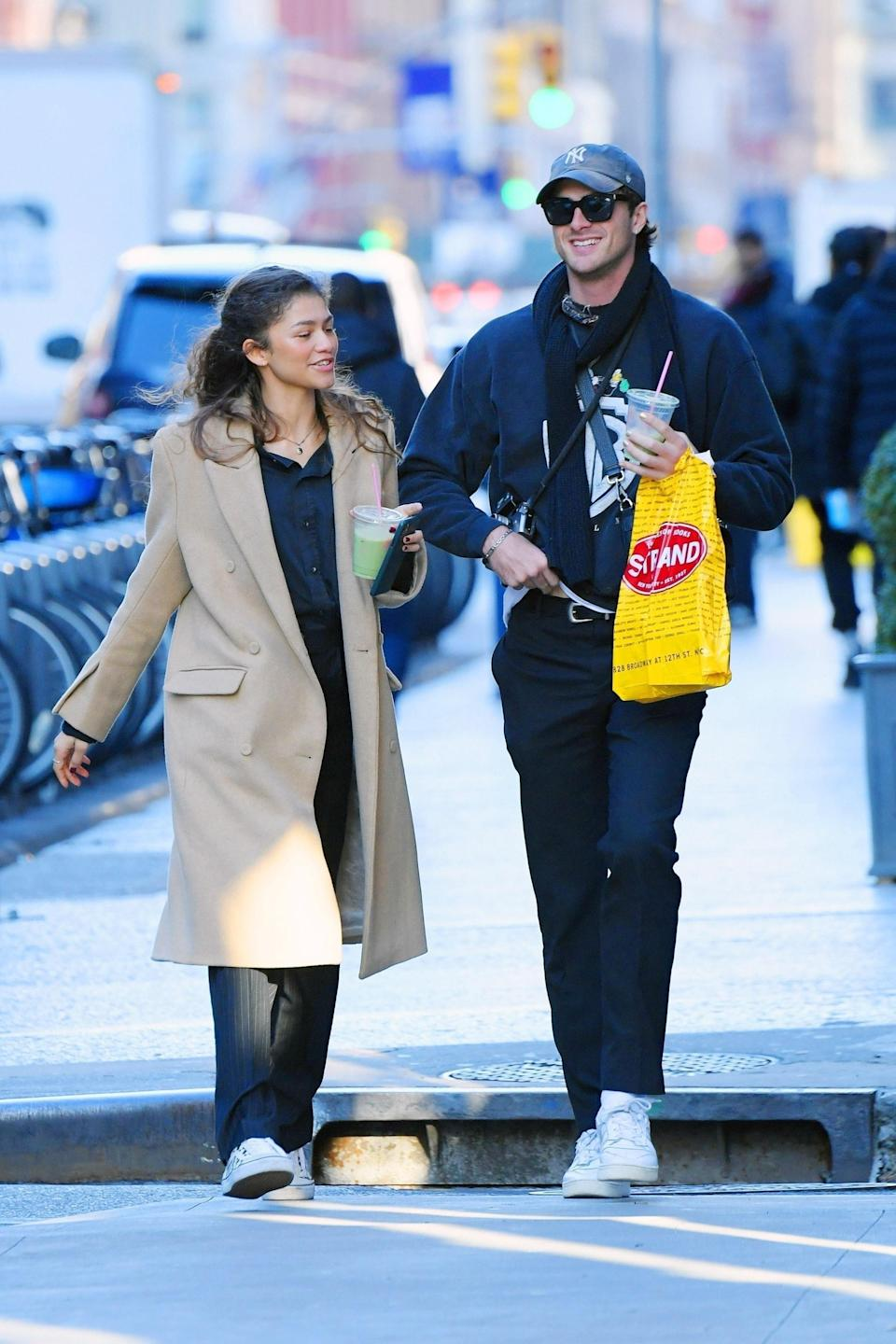 Tom dated family friend Olivia Bolton from July 2019to April 2020. And in February 2020, Zendaya was seen sharing cute PDA moments out and about in New York City with Euphoria co-star Jacob Elordi, before hebegan dating Kaia Gerberin September.