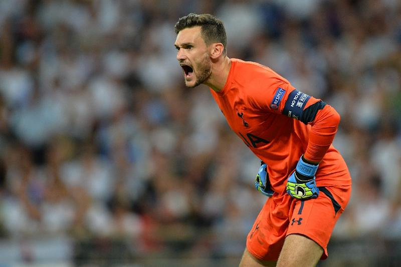 Tottenham Hotspur's French goalkeeper Hugo Lloris had a busy second half at the Bay Arena as Leverkusen beefed up their midfield and fired in 16 shots at the Spurs goal (AFP Photo/Glyn Kirk)