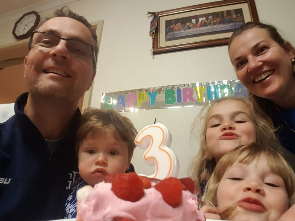 Melbourne couple Tomislav and Katie Perinovic with their three children.