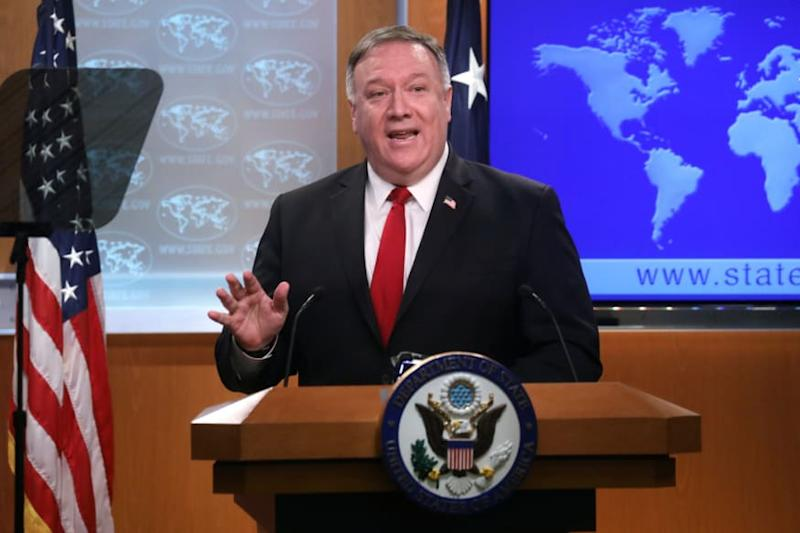 Mike Pompeo Tears into 'Rogue Actor' China for 'Escalating' Border Tension with India