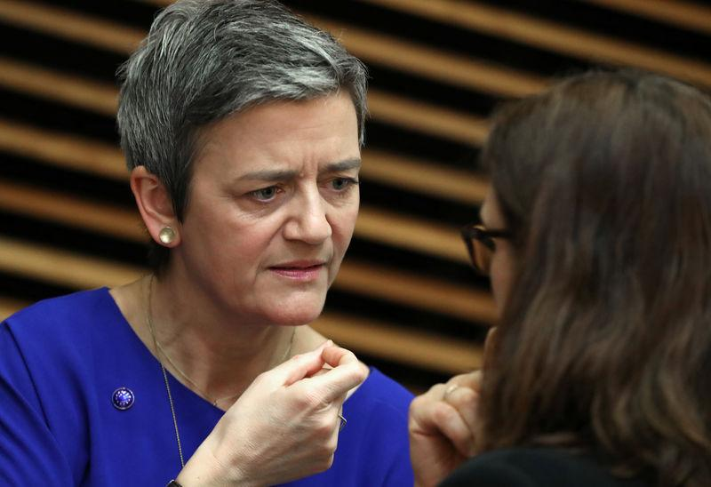 European Competition Commissioner Margrethe Vestager attends the weekly College of Commissioners meeting in Brussels