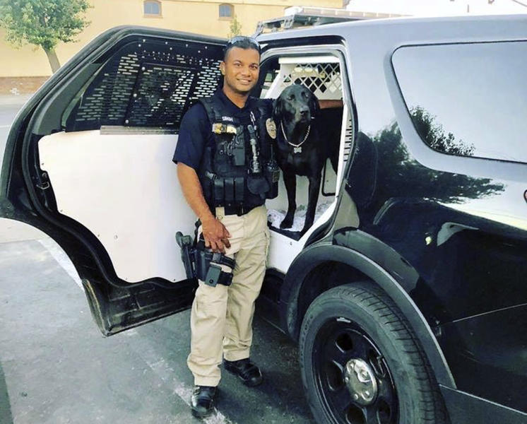 FILE - This undated photo provided by the Newman Police Department shows Officer Ronil Singh. The Northern California police officer was gunned down during a traffic stop the day after Christmas 2018. (Stanislaus County Sheriff's Department via AP,File)