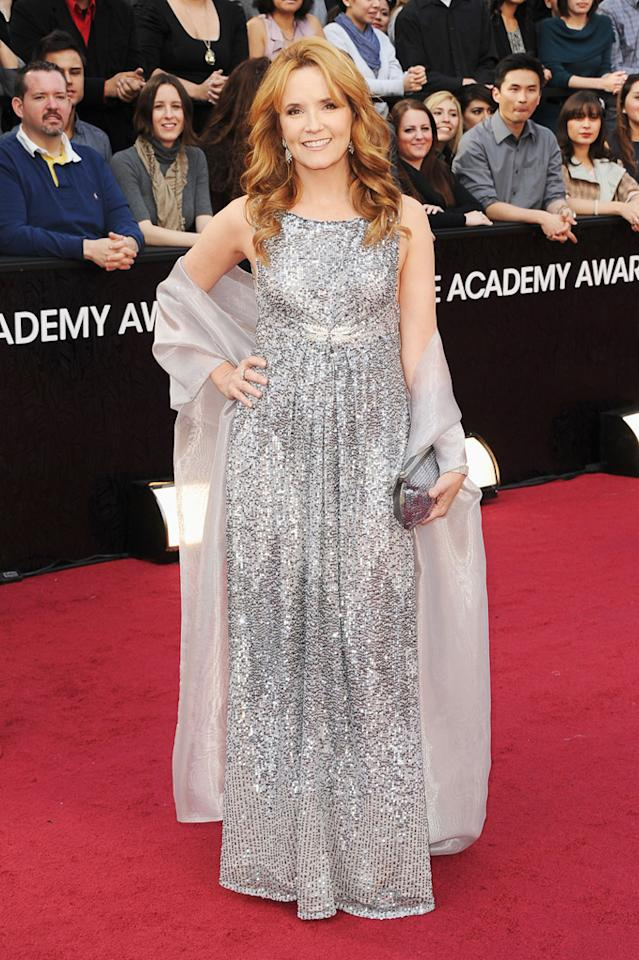 Lea Thompson arrives at the 84th Annual Academy Awards in Hollywood, CA.