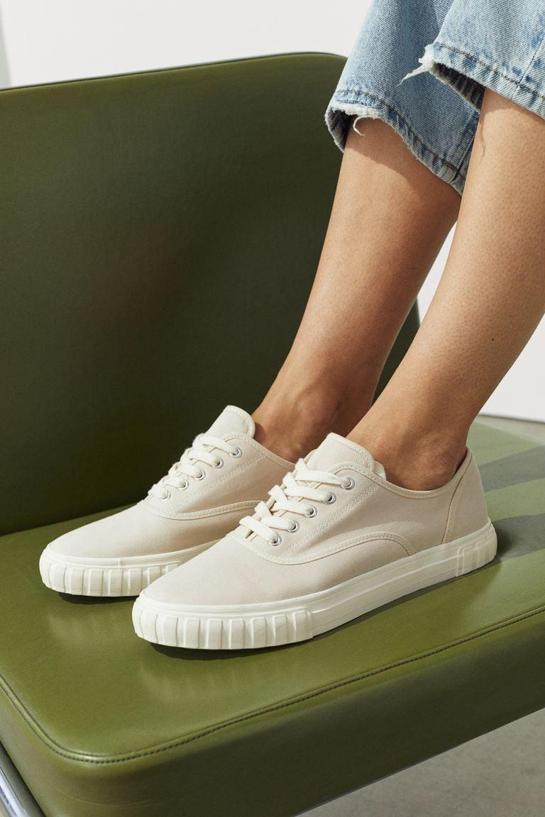 <p>These <span>H&amp;M Twill Sneakers</span> ($30) come in beige hue.</p>
