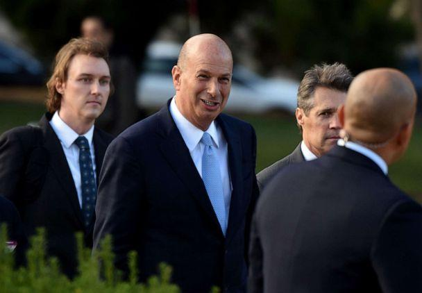 PHOTO: Ambassador Gordon Sondland, center, arrives at the U.S. Capitol in Washington, D.C., Oct. 17, 2019. (AFP via Getty Images, FILE)